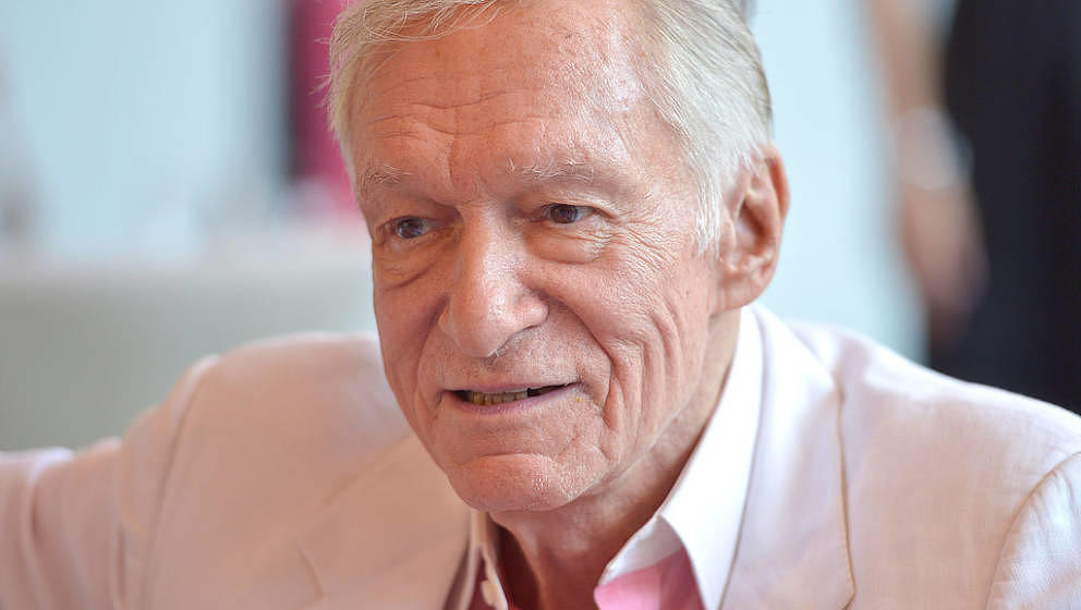 HOLMBY HILLS, CA - MAY 09:  Hugh Hefner attends Playboy's 2013 Playmate Of The Year luncheon honoring Raquel Pomplun at The P