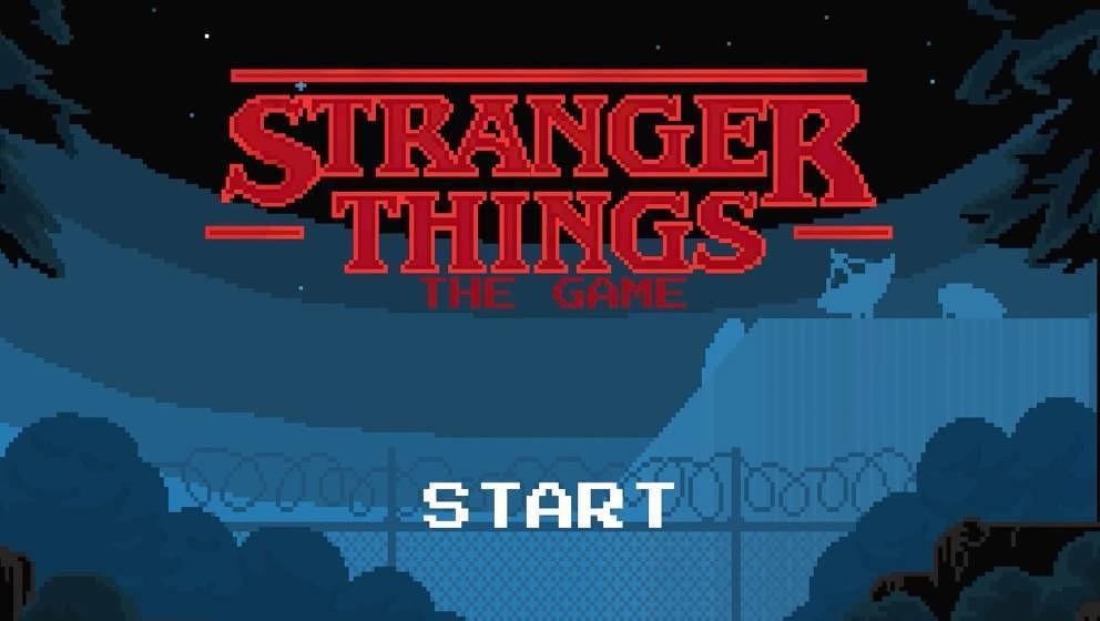"""Der Startbildschirm des """"Stranger Things""""-Spiels."""