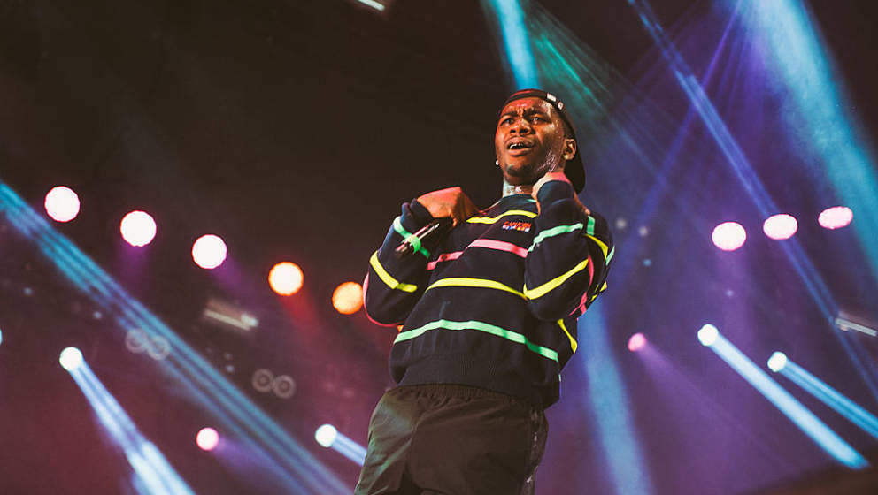 HELSINKI, FINLAND - AUGUST 12:  Lil B performs live on August 12, 2016 in Helsinki, Finland.  (Photo by Gaelle Beri/Redferns)