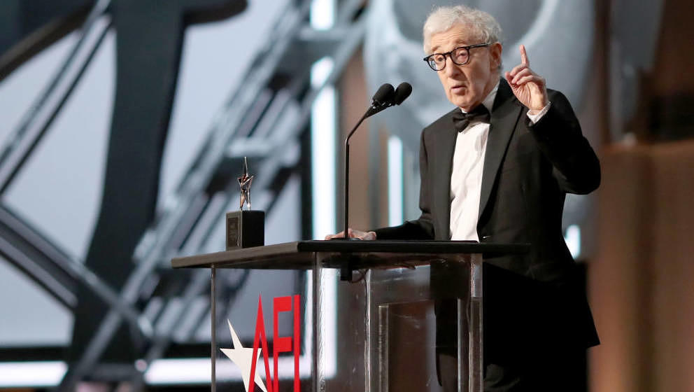 HOLLYWOOD, CA - JUNE 08:  Director Woody Allen speaks onstage during American Film Institute's 45th Life Achievement Award Ga