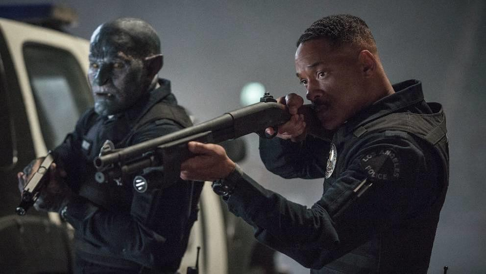 "Joel Edgerton (l.) und Will Smith in ""Bright"""