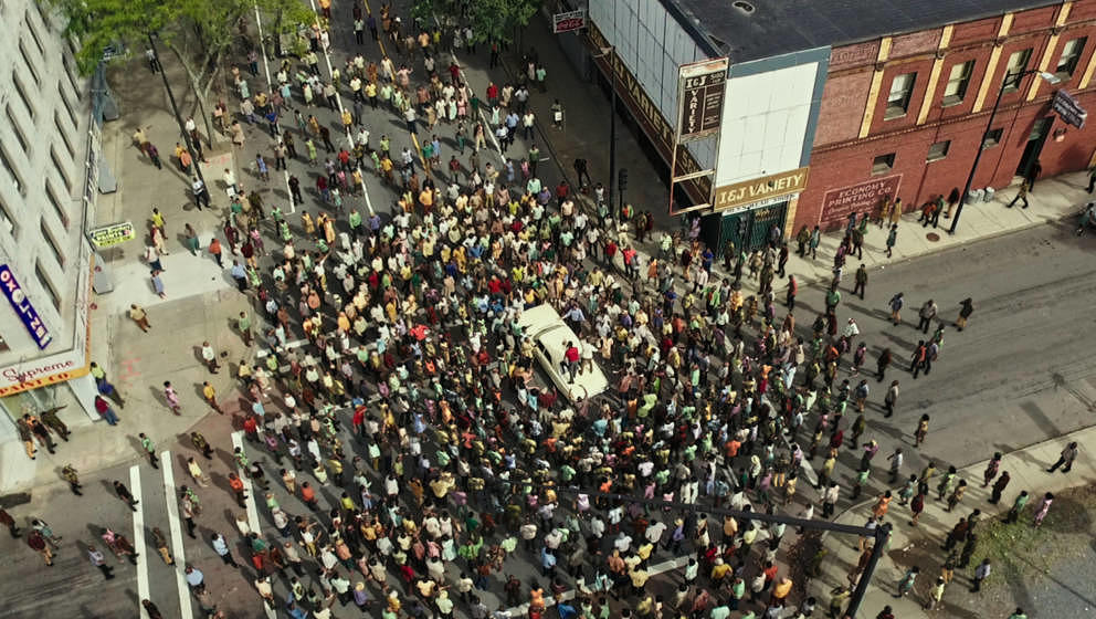 Tumulte auf den Straßen Detroits.