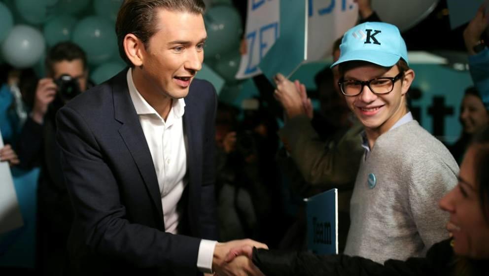 Hat ein österreichisches Jugendwort inspiriert, das es leider gar nicht gibt: Sebastian Kurz, mit nur 31 Jahren wahrscheinlich der nächste Bundeskanzler Österreichs