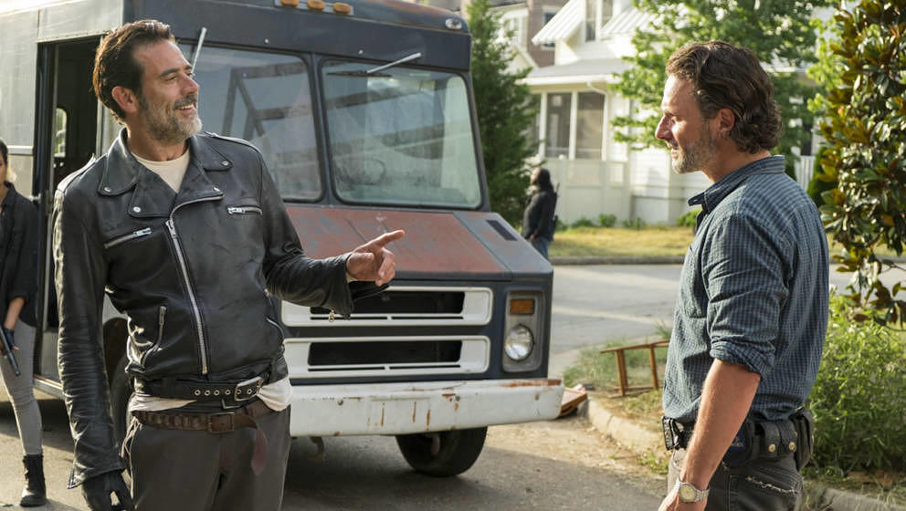 "Negan und Rick in ""The Walking Dead"""