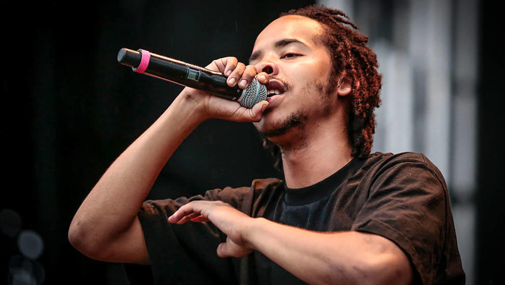 OTTAWA, ON - JULY 09:  Earl Sweatshirt perfoms live on Day 3 of the RBC Bluesfest on July 9, 2016 in Ottawa, Canada.  (Photo