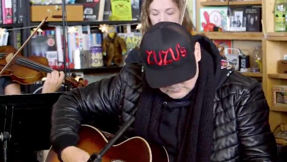 """Billy Corgan während seines """"Tiny Desk Concert"""" für NPR"""