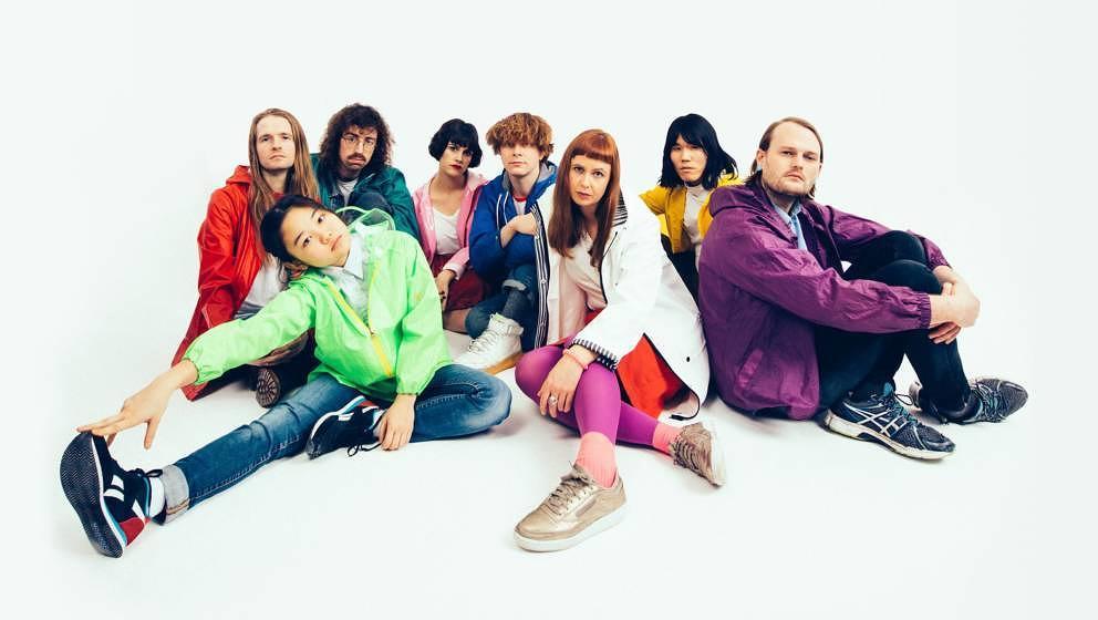 Die achtköpfige Synthie-Pop-Band Superorganism sind unsere Band der Stunde