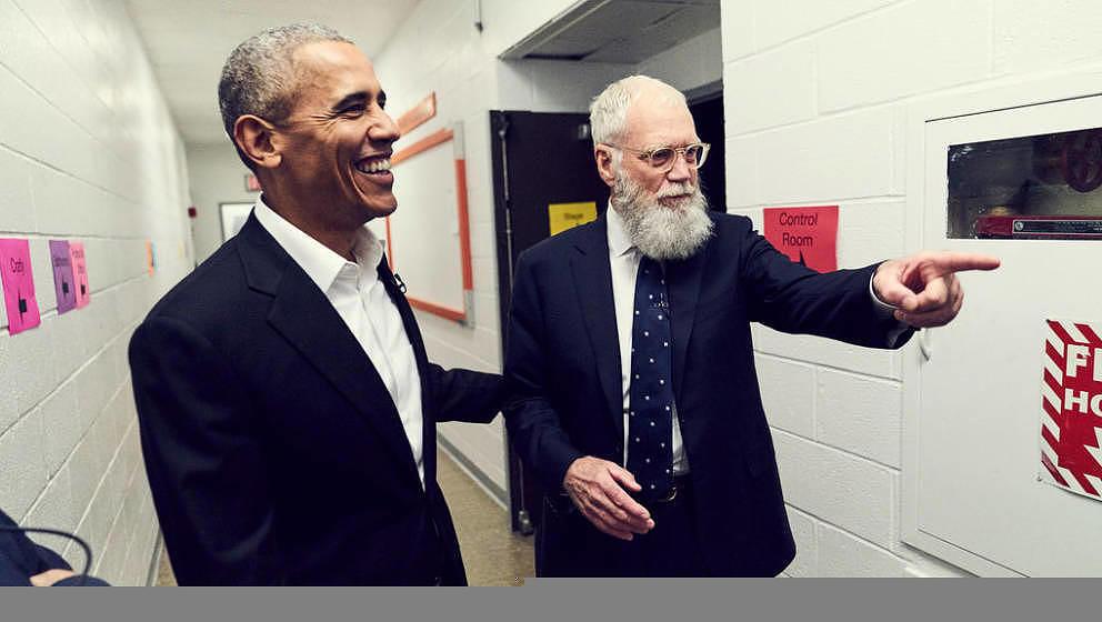 Barack Obama und David Letterman.
