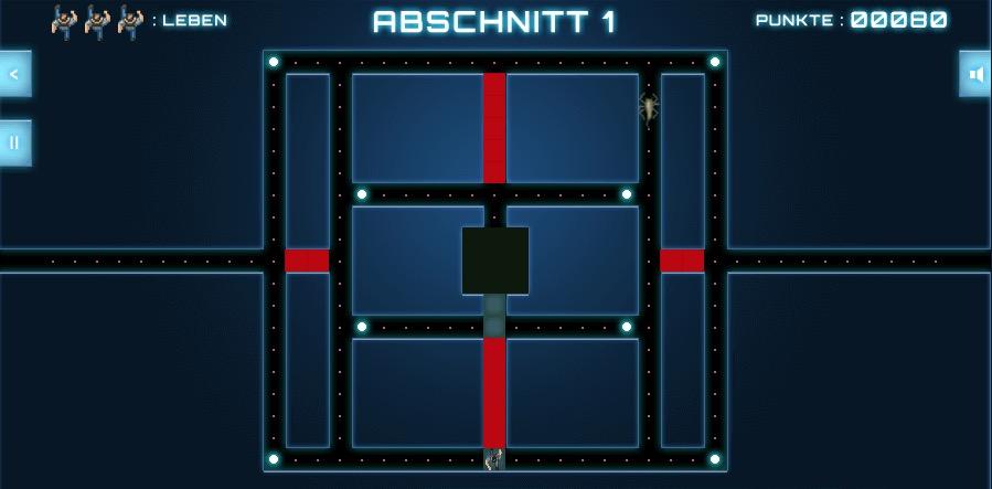 Die Mechanik des Spiels erinnert stark an Pac-Man.