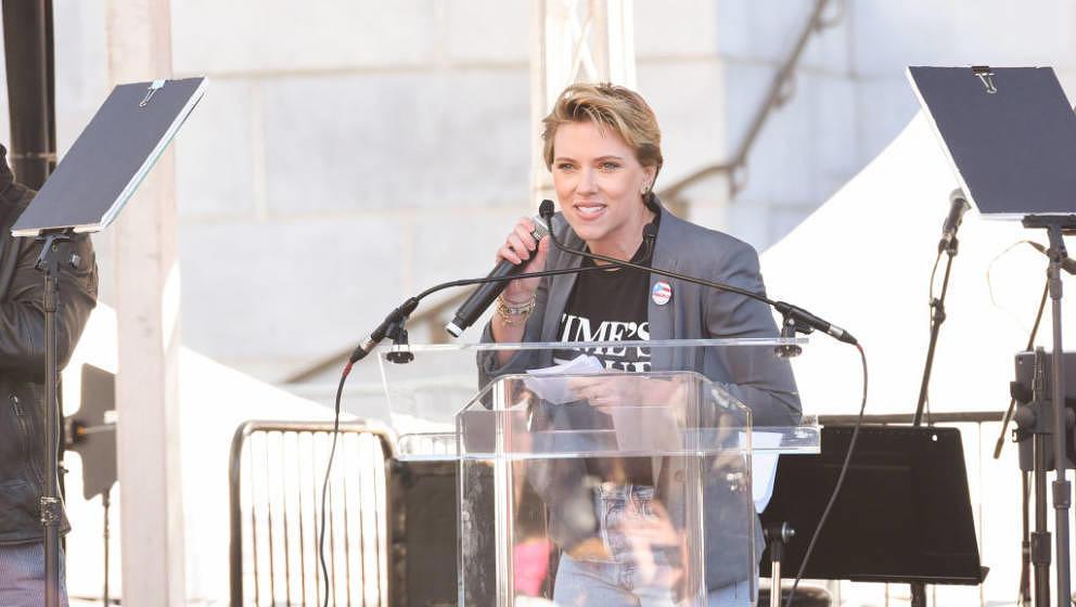 Scarlett Johansson beim Women's March 2018
