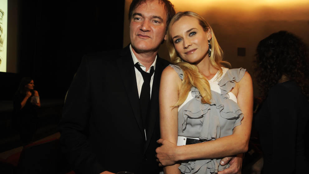 NEW YORK, NY - DECEMBER 03: Quentin Tarantino and Diane Kruger attends The Museum of Modern Art 5th annual Film Benefit honor