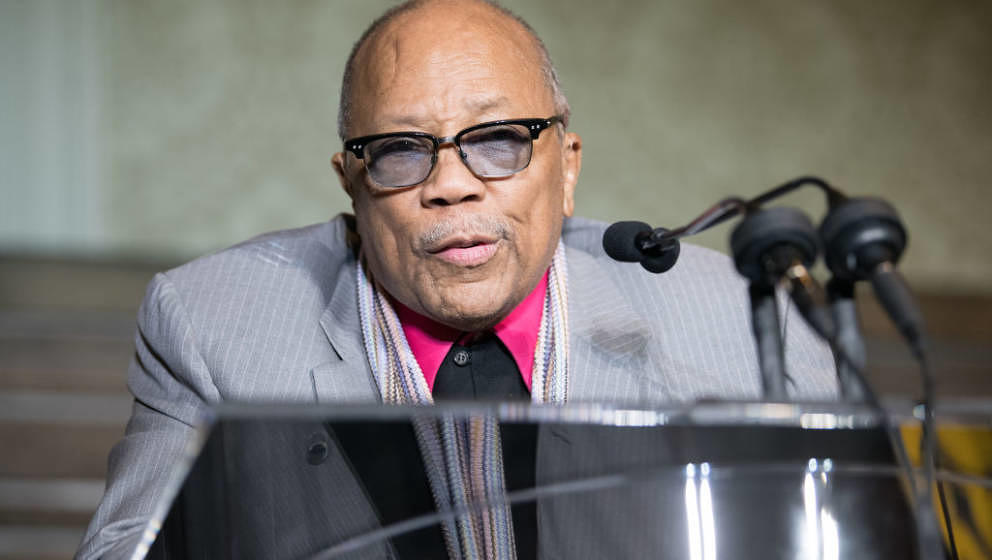 LOS ANGELES, CA - NOVEMBER 12:  Record Producer Quincy Jones is honored at In A Perfect World Foundation honors Quincy Jones