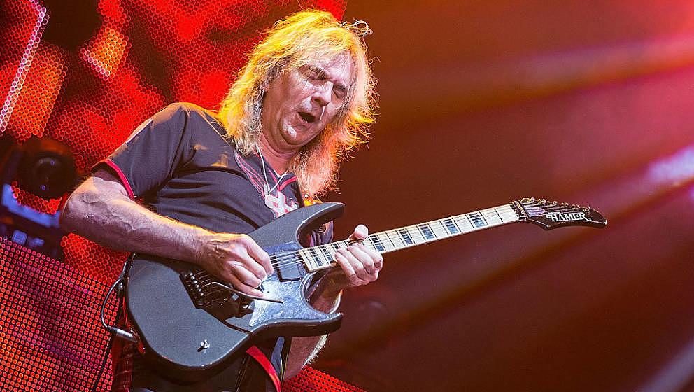CEDAR PARK, TX - MAY 14:  Musician Glenn Tipton of Judas Priest performs in concert at Cedar Park Center on May 14, 2015 in C
