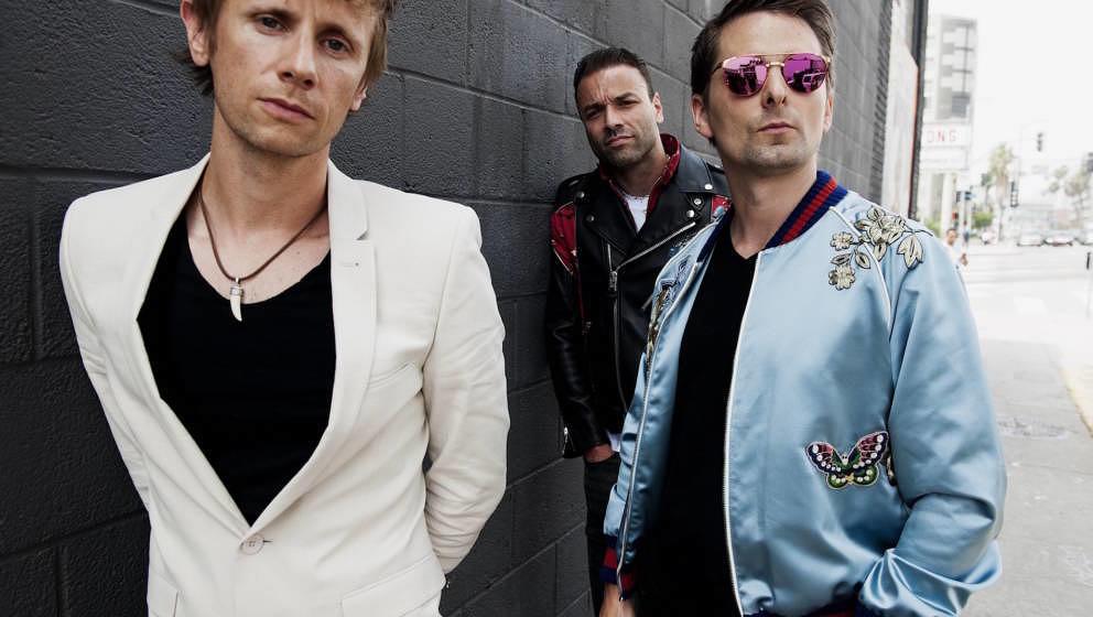 Muse 2018: Schlagzeuger Dominic Howard, Bassist Christopher Wolstenholme und Sänger Matthew Bellamy