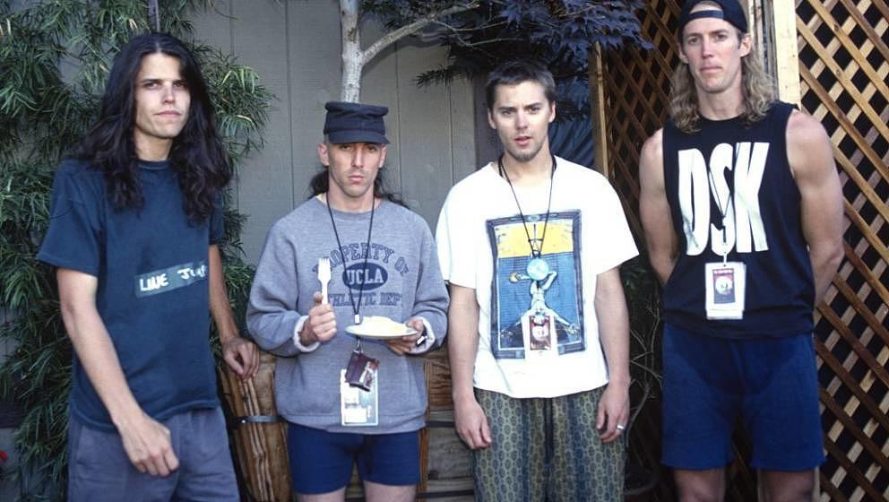 MOUNTAIN VIEW, CA - JUNE 23: (L - R) Adam Jones, Maynard James Keenan, Paul D'Amour, and Danny Carey of Tool pose during Loll
