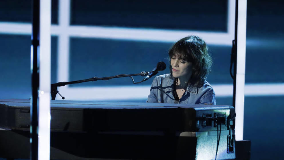 French actress and singer Charlotte Gainsbourg performs on stage during the 33rd Victoires de la Musique, the annual French m