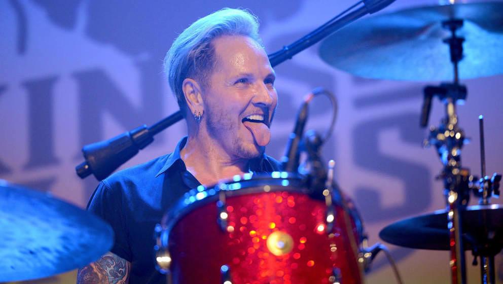 LOS ANGELES, CA - SEPTEMBER 16:  Drummer Matt Sorum of Kings of Chaos, Velvet Revolver and Guns n' Roses performs onstage dur
