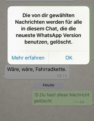 whatsapp nachricht wird nicht zugestellt