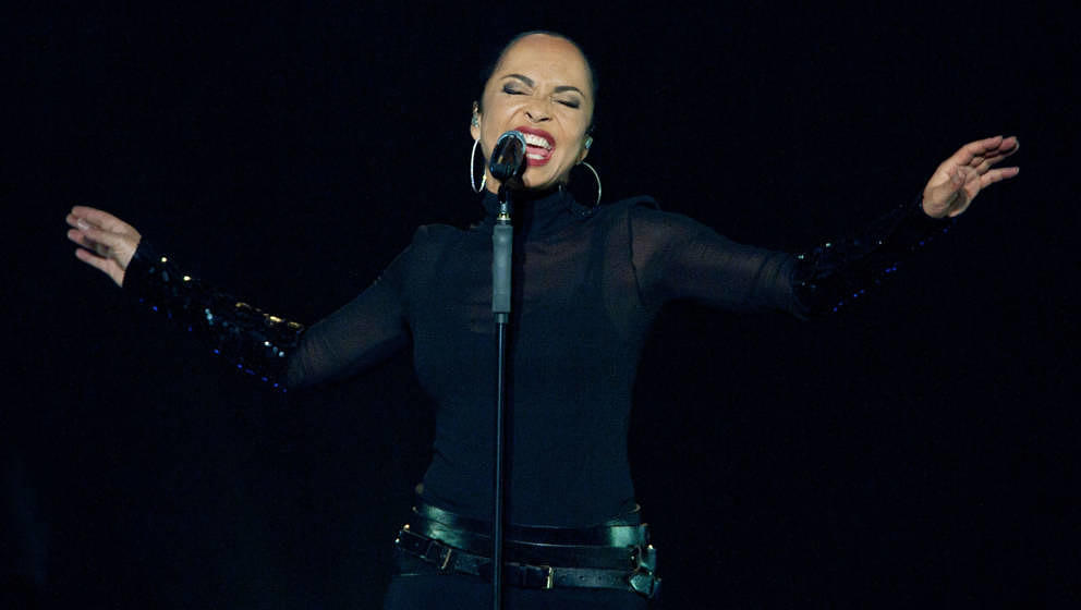 LOS ANGELES, CA - AUGUST 19:  Singer Sade performs onstage at the Staples Center on August 19, 2011 in Los Angeles, Californi