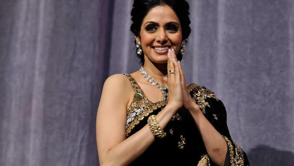 TORONTO, ON - SEPTEMBER 14:  Actress Sridevi Kapoor attends the 'English Vinglish' premiere during the 2012 Toronto Internati