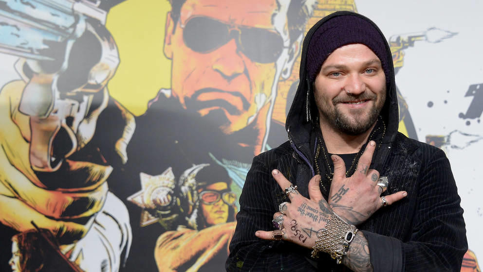Bam Margera arives at The World Premiere Of Lionsgate 'The Last Stand' held at Grauman's Chinese Theatre on January 14, 2013