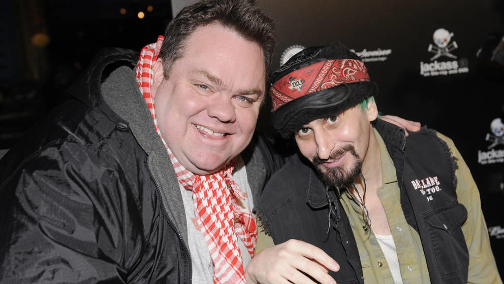 Preston Lacy and Loomis attend 'Jackass 3' Blu-Ray And DVD Celebration at Paramount Studios on March 7, 2011 in Los Angeles,