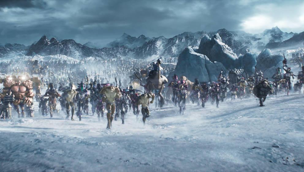 Eine Schlacht voller berühmter Figuren bildet den Höhepunkt des Films.