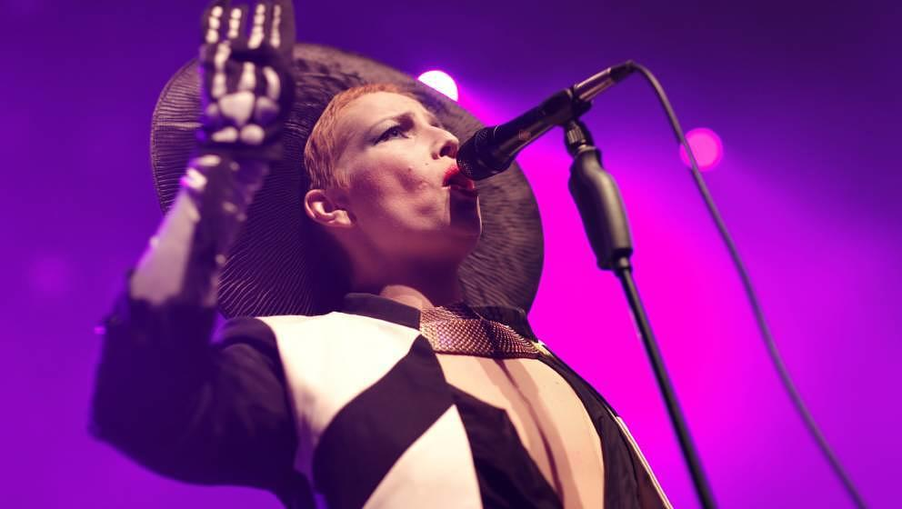 The Swedish singer-songwriter and musician Jenny Wilson performs a live concert at Spot Festival 2011. Denmark 27/05 2011. (P