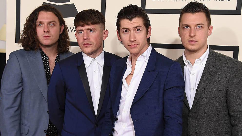 Die Arctic Monkeys, hier bei den Grammys 2015