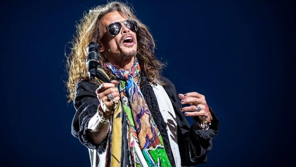 Steven Tyler mit Aerosmith live beim Sweden Rock Festival 2017