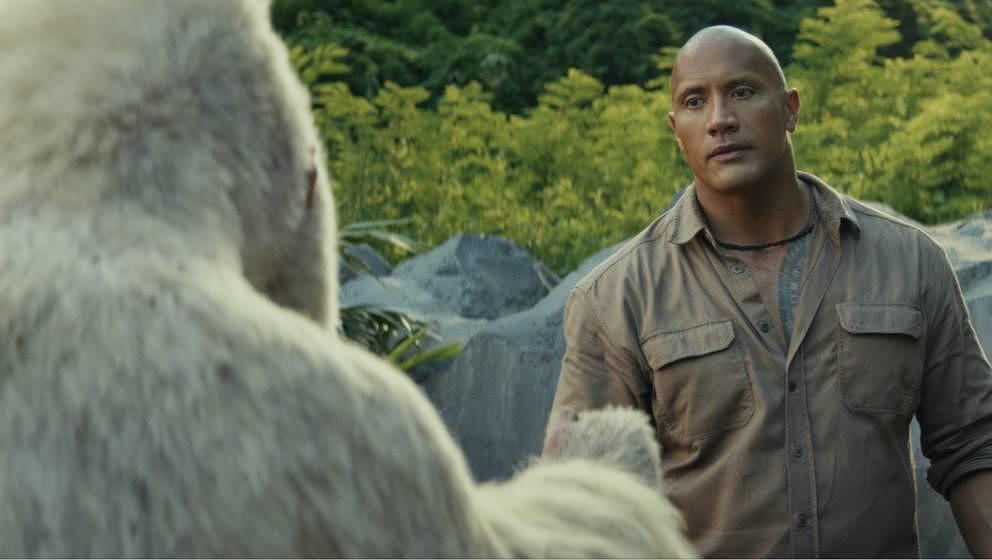 "Dwayne Johnson in ""Rampage""."