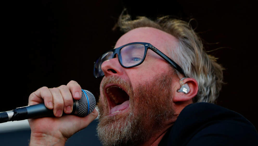 Matt Berninger von The National live beim Lollapalooza Festival in Chile am 16. März 2018
