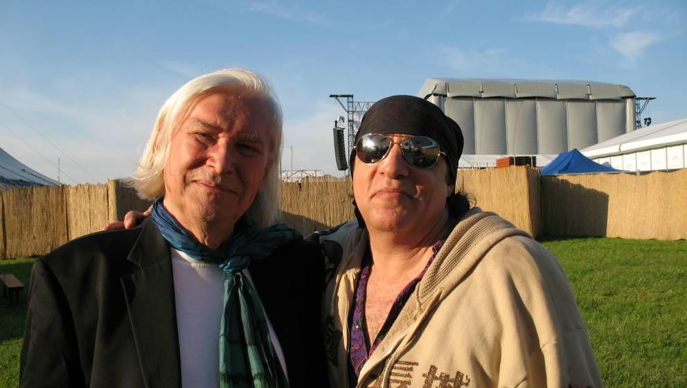 """Peter Rüchel mit seinem langjährigen Kumpel """"Little"""" Steven Van Zandt aus Bruce Springsteens E Street Band"""