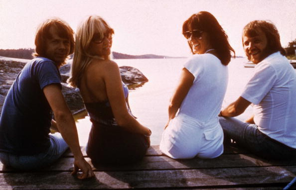 SWEDEN - AUGUST 01:  Photo of Bjorn ULVAEUS and ABBA and Benny ANDERSSON and Anni Frid LYNGSTAD and Agnetha FALTSKOG; L-R: Bj