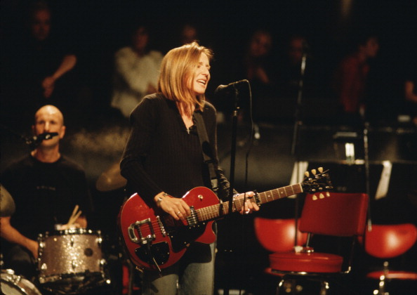 Beth Gibbons of Portishead performing at Roseland Ballroom, New York on 24 July 1997. (Photo by David Corio/Redferns)