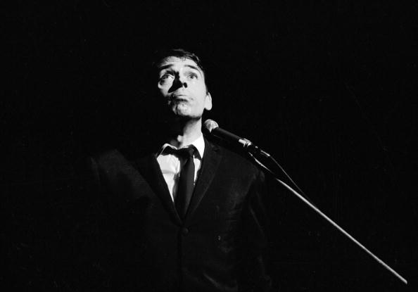 FRANCE - CIRCA 1967:  Jacques Brel (1929-1978), Belgian singer-songwriter. Theatre of Aubervilliers, 1967.  (Photo by Lipnitz