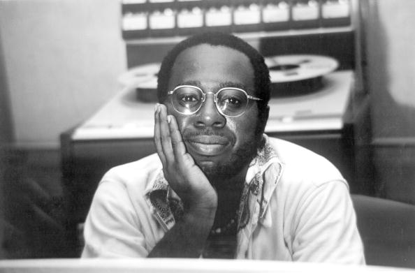 UNSPECIFIED - JANUARY 01:  Photo of Curtis MAYFIELD; Posed portrait of Curtis Mayfield, in a recording studio  (Photo by Gill