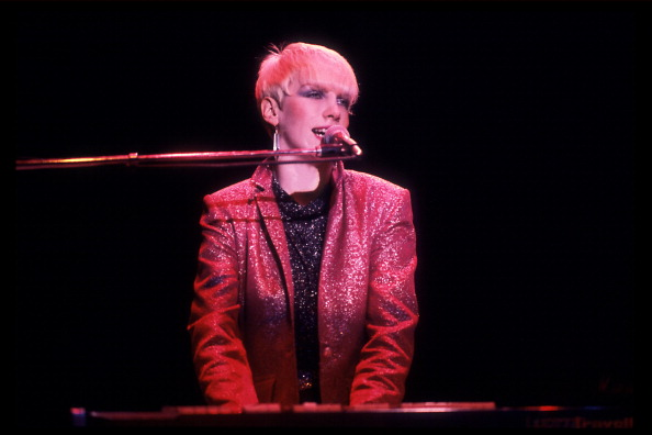 British musician Annie Lennox of the Eurthymics performs at the Park West, Chicago, Illinois, July 29, 1986. (Photo by Paul N