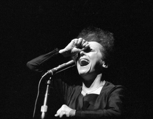 FRANCE - 1961:  Edith Piaf ( 1915-1963 ), French singer. Paris, Olympia, in January, 1961. LIP-30313-205.  (Photo by Lipnitzk