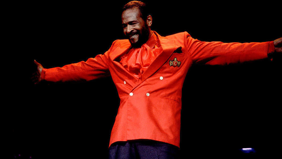 American Soul musician Marvin Gaye (1939 - 1984) performs onstage at the Holiday Star Theater, Merrillville, Indiana, June 10