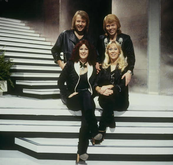 LONDON, UNITED KINGDOM - DECEMBER 06: Benny Andersson, Bjorn Ulvaeus, Anni-Frid Lyngstad and Agnetha Faltskog of Swedish pop