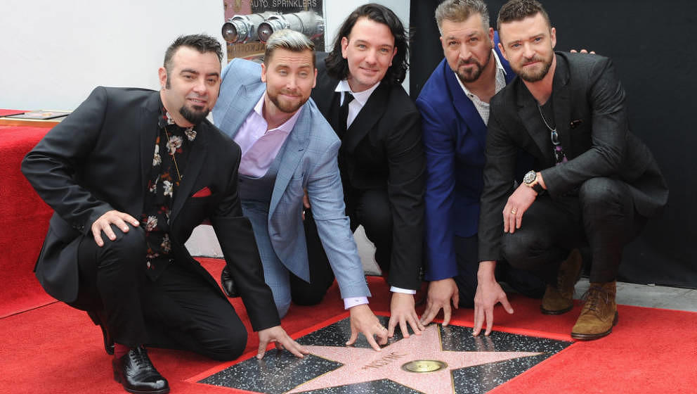 *NSYNC am 30.April 2018 bei der Enthüllung ihres Hollywood-Sterns