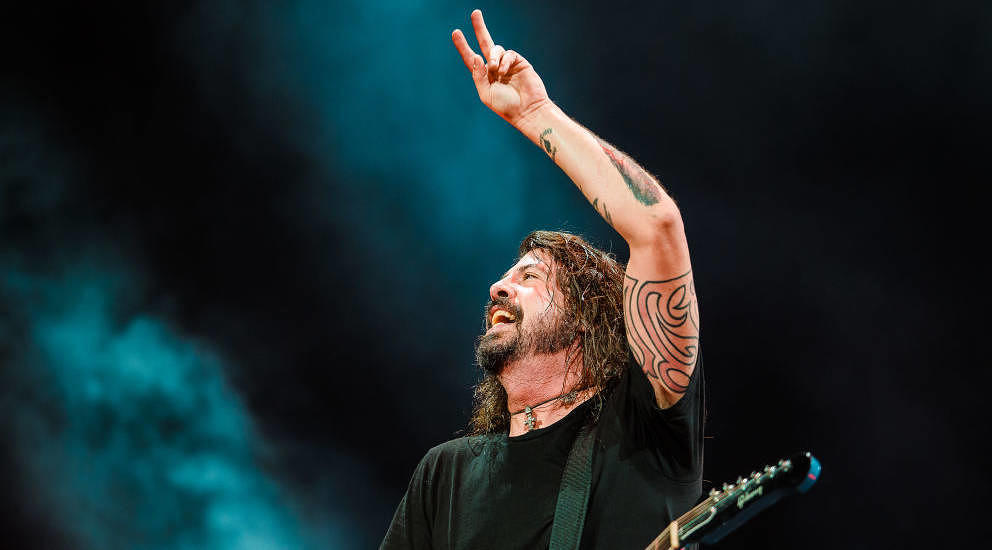 Dave Grohl mit den Foo Fighters, hier live am 27. Februar 2018 in Sao Paolo