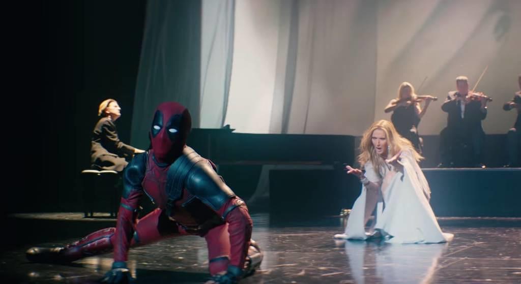 Céline Dion mit Deadpool.
