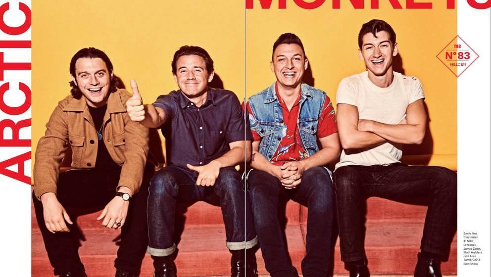 ME-Helden in unserer Jubiläumsausgabe: Die Arctic Monkeys im 750. Musikexpress