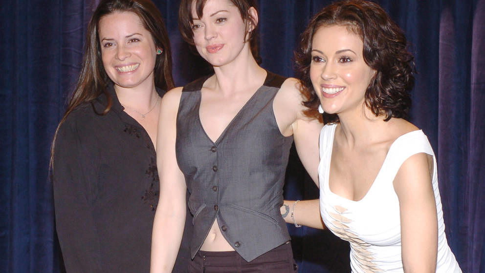 Holly Marie Combs, Rose McGowan and Alyssa Milano during 'Charmed' Celebrates 150 Episodes and First Season on DVD at Paramou
