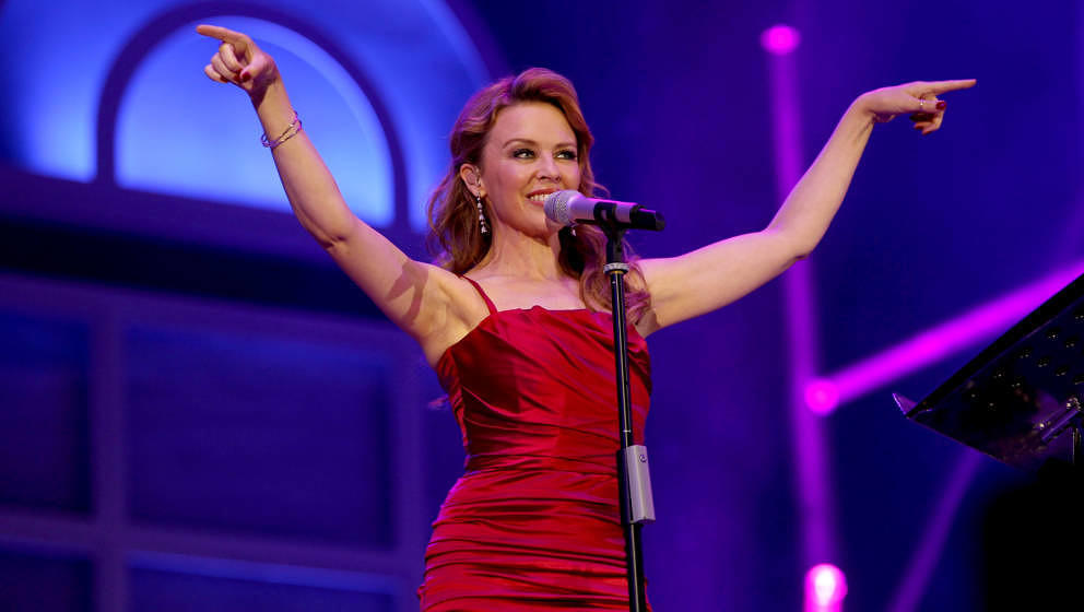 LONDON, UNITED KINGDOM - SEPTEMBER 08: Kylie Minogue performs at BBC's Proms In The Park at Hyde Park on September 8, 2012 in