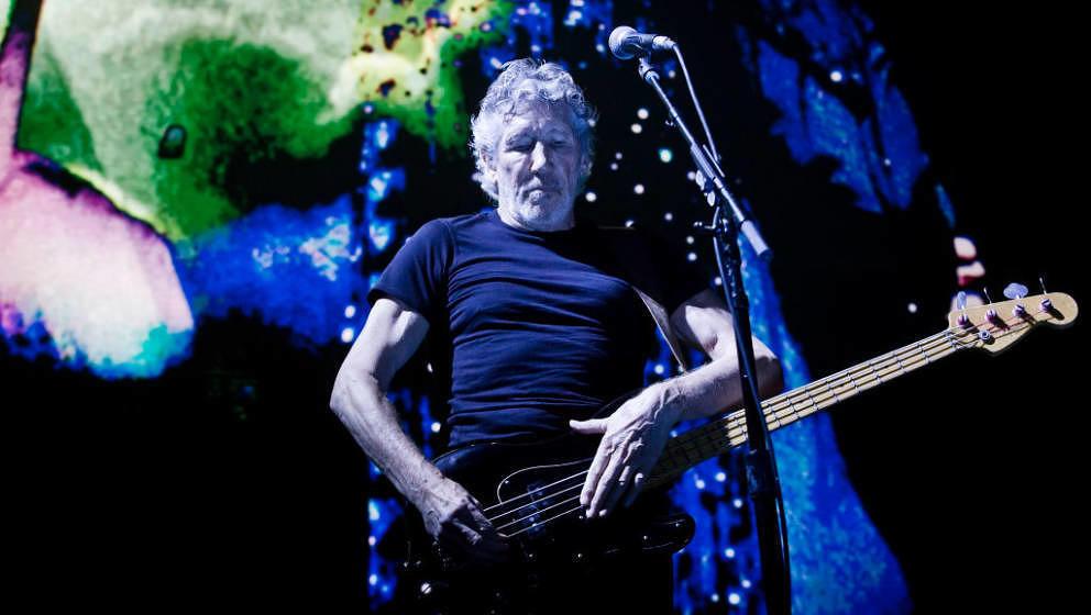 Roger Waters auf der Bühne der Mercedes Benz Arena.
