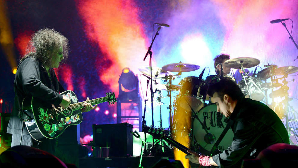 NEW ORLEANS, LA - NOVEMBER 03:  Robert Smith and Simon Gallup of The Cure perform during the 2013 Voodoo Music + Arts Experie