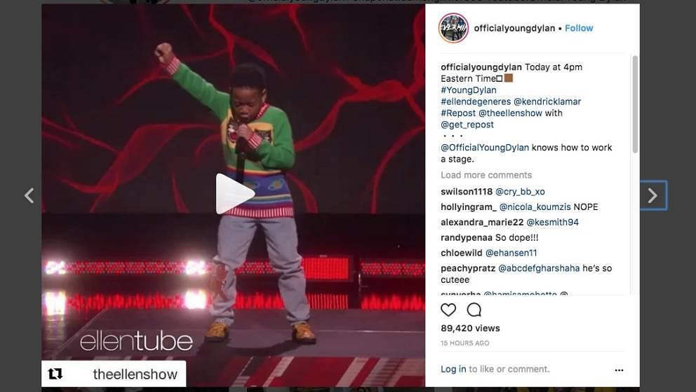 TV- und Instagram-Star: Young Dylan